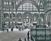 Main train concourse, Pennsylvania Station, looking toward 31st Street, 1937