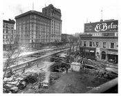 Major construction at 66th Street & Broadway Aerial view - Upper West Side - New York, NY 1901