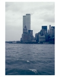 WTC as seen from the East River - Manhattan