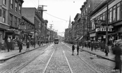 Manhattan Avenue looking north from Meserole Street, 1928