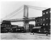 Manhattan Bridge - foot of Main Street - under construction 1908