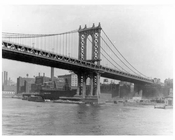 Manhattan Bridge looking toward Brooklyn, NY 1926