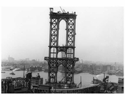 Manhattan Bridge under construction 1908