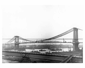 Manhattan Bridge  under construction 1908 - Brooklyn, NY