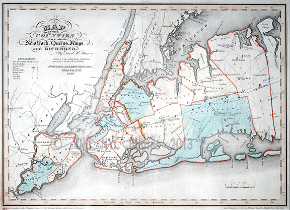 Map of Manhattan & the 5 boroughs