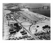 Marine Parkway Bridge - Aerial shot alsio shown here - Jacob Riis Park- 1936 Queens, NY