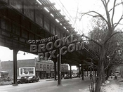 McDonald Avenue (former Gravesend Avenue), south to Avenue P, in 1950. Culver Line el above.