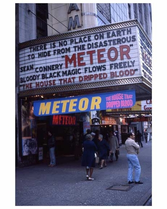"""""""Meteor"""" with Sean Connery - Theater District NYC 1970s"""