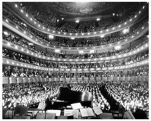 Metropolitan Opera House 1937 Josef Hoffman on Piano