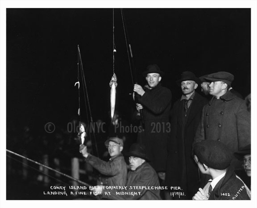Midnight catch - Fishing at coney Island Pier