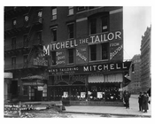 Mitchell the TaIlor - Broadway  street view of shops  - Midtown Manhattan - 1915