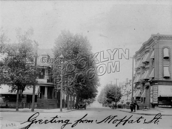Moffat Street north from Broadway, 1909