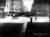 Mott Avenue north at Bayard Street, 1907, then Jewish, now Chinatown