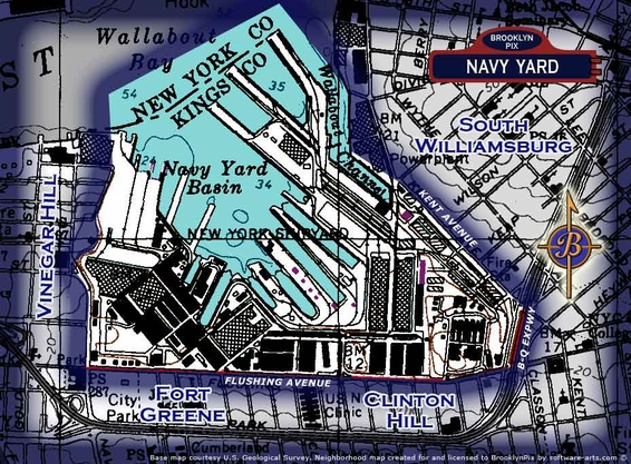 Navy yard area map