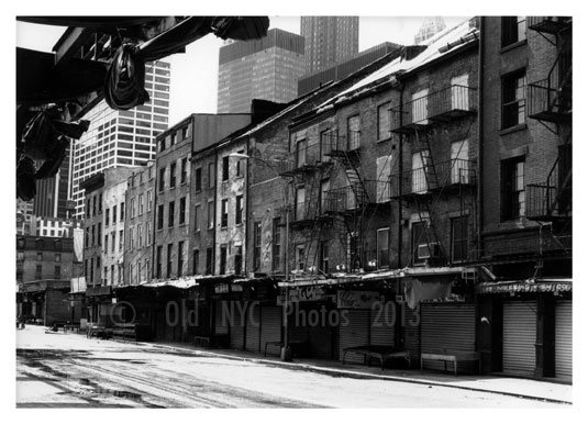 Near Fulton Fish Market 1950's