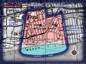 Neighborhood borders map for Brighton Beach