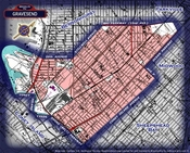 Neighborhood borders map for Gravesend