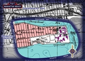 Neighborhood borders map for Manhattan Beach
