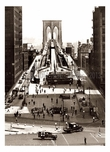 New Brooklyn Bridge Approach from City Hall Park 1945