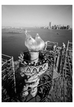 New Torch & Flame in place- workers begin to dismantle scaffolding December 17, 1985 - Statue of Liberty