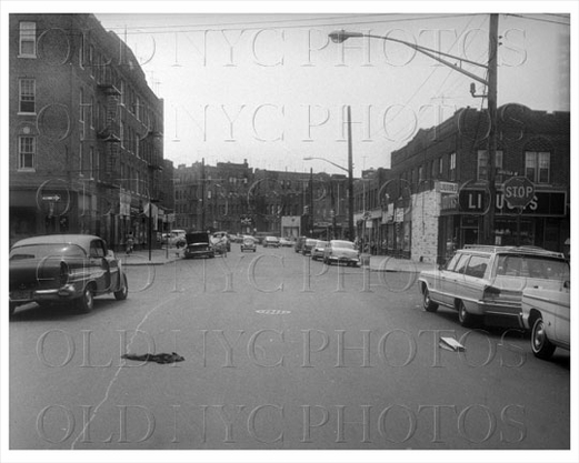 Newport Avenue west toward Saratoga Avenue Brownsville 1966