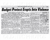 News Paper Violence Brooklyn 1971