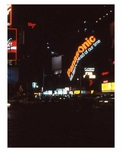 Night Time view  in 1970s Times Square