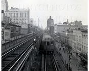 North from East 10th St Third Ave Subway Manhattan NYC 1950