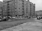 Northeast corner Kingston and Lefferts Avenues, 1947