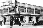 Northwest corner Kings Highway & Coney Island Ave.; a fitness center is now located upstairs, c.1938