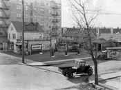 Northwest corner Locust Avenue and East 14th Street, 1929