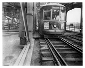 Nostrand Ave Trolley Line on the Williamsburg Bridge  1939 Brooklyn, NY