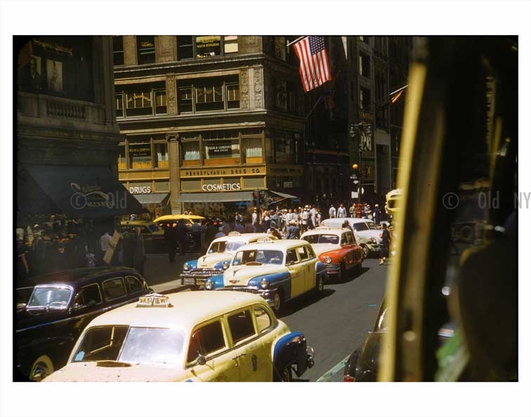 NYC Traffic - Yellow checker cabs