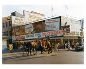 NYPD on horseback - Coney Island  Brooklyn NY 1971
