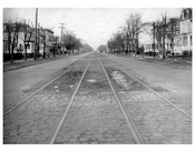 Ocean Ave  1924 - Looking North from Voorhies Ave