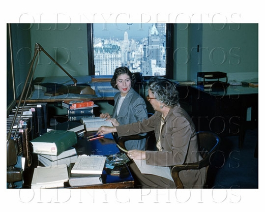 Office scene 5th Ave NYC 1950