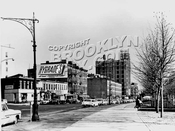 Old Fulton Street looking north from Clark Street, 1961