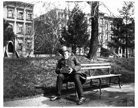 Old man on the park bench