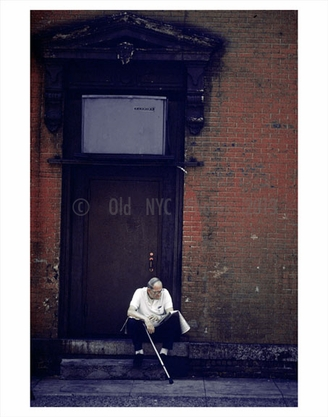 Old man on the stoop