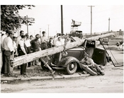 One car accident on the southeast corner of Utica Avenue & Avenue J - June 1940