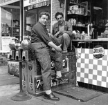 Two guys on the street -  836 Sutter Avenue, 1948