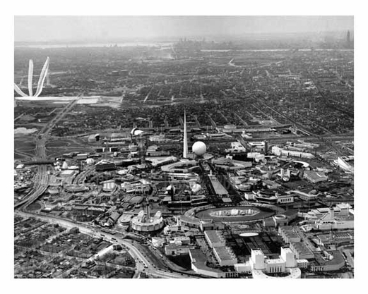 Opening Day - aerial view of the Worlds Fair 1939 - Flushing - Queens - NYC