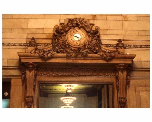 Ornate Clock Inside of Grand Central Station 1988