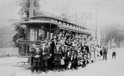 Outing for St. Gabriel's, led by Father McClancy, New Lots Avenue between Linwood and Essex Streets, 1910