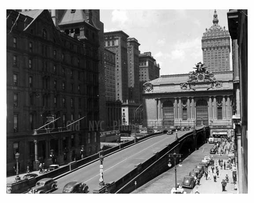 Outside Grand Central Station Midtown Manahattan circa 1930 NYC