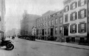 Pacific Street looking east from Clinton Street to Court Street, showing P.S. 78, 1918