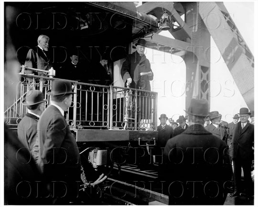 Pennsylvania Railroad Co. President Samuel Rea First train over Hell Gate Gustave Lindenthal Bridge Designer Manhattan NYC 1909