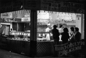 """Pete's Best"" Food concession at night, Coney Island, 1973"