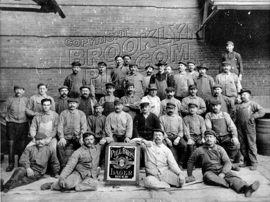 Piel Brothers' East New York brewery workers, c.1900
