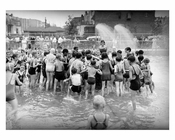 Playground opening day - Wading pool - 1934 - Jackson Heights - Queens NY